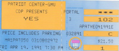 April 19, 1991 – Yes - Patriot Center