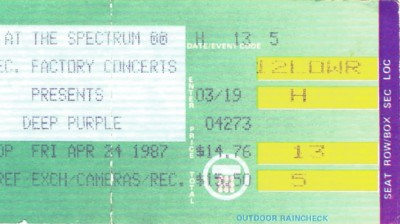 April 24, 1987 – Deep Purple - Spectrum