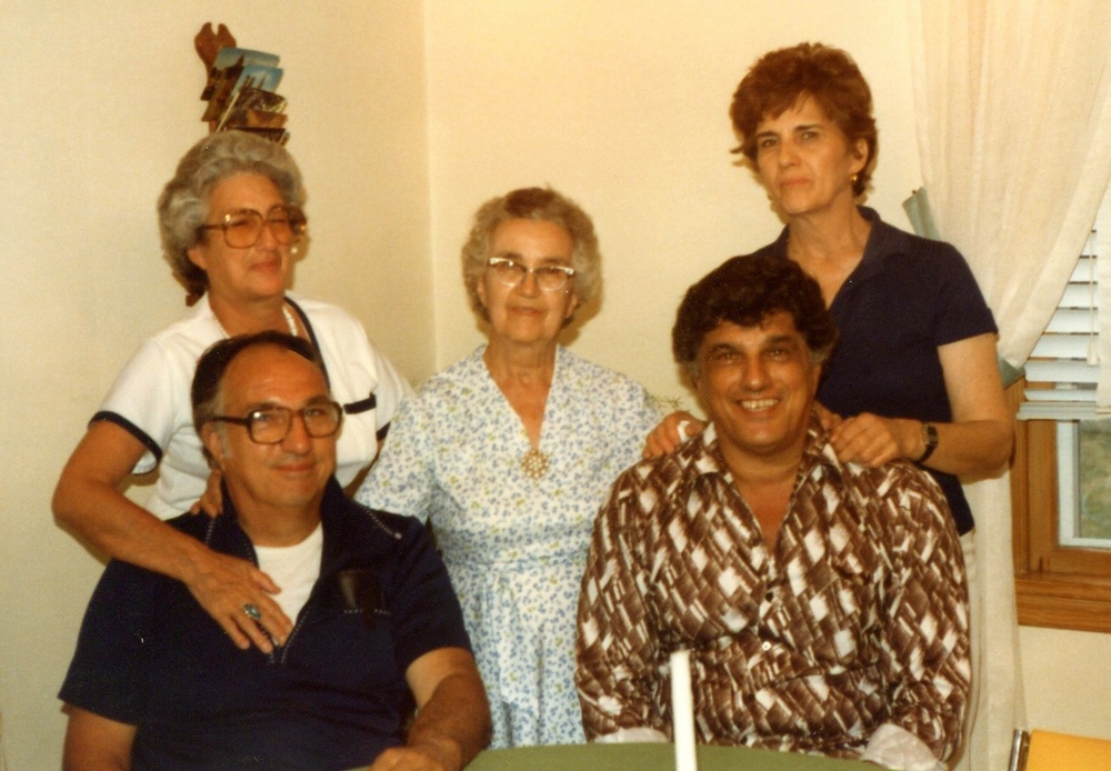 Jimmy with his mother, Mary, sisters. Angelina and Josephine, and brother, Frankie
