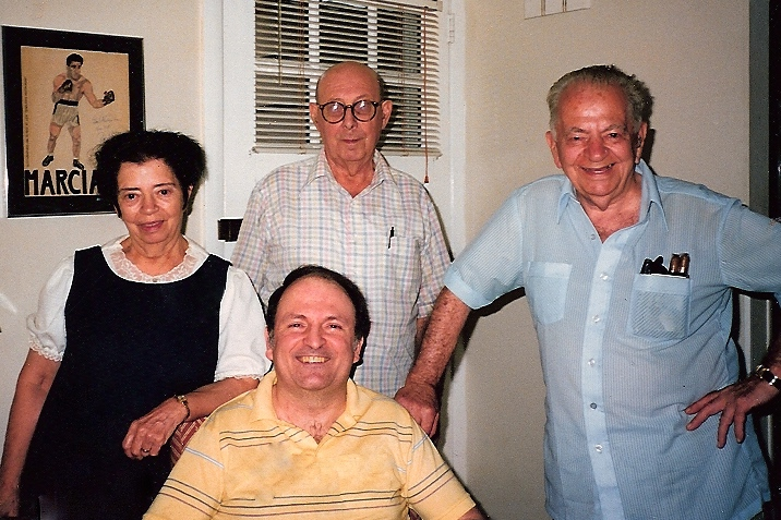 From l to r - My Great Aunt Martha (and Paul's sister, her husband Ed, Paul, and my father, Don (circa 1985)