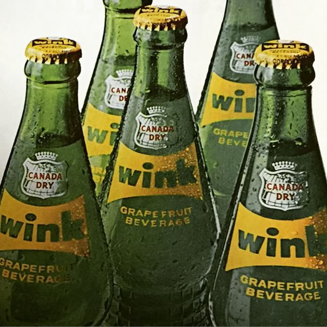 This reminds me of my Little Gram.  An ad from the September 2, 1966, LIFE Magazine.  #soda #winksoda #bottles #canadadry #wink
