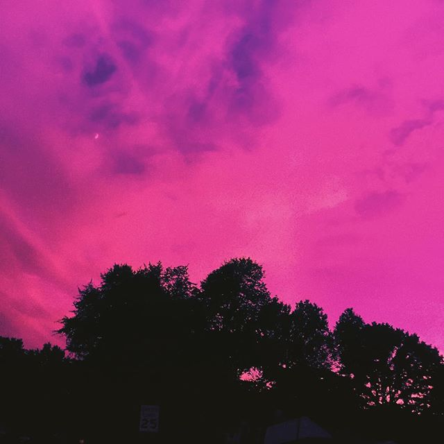 The sky through my rose colored glasses.