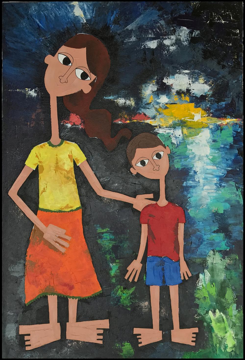 Acrylic on canvas (20 x 30 inch),WIP