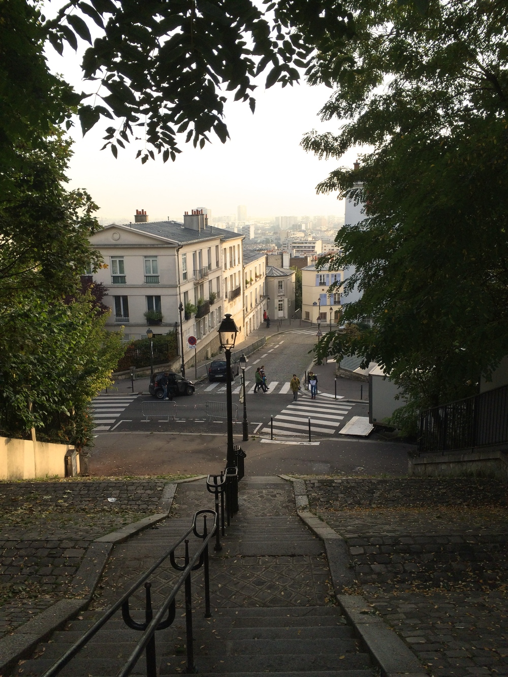Just below Le Sacre Coeur