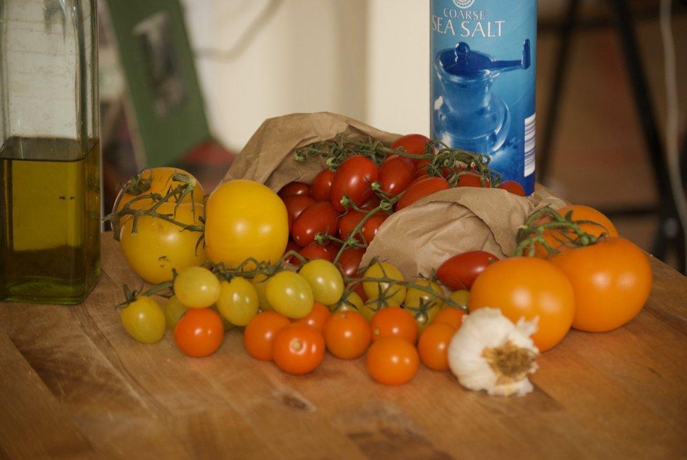 Raid on the veggie stand.