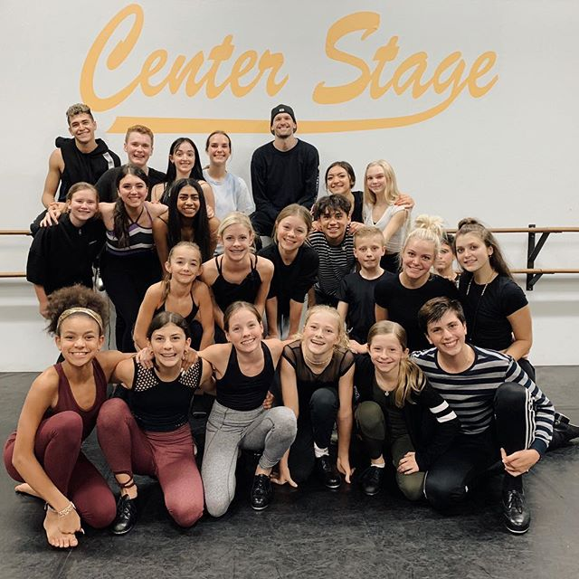 We had an amazing time with @nick__young this week!! ✨Thank you so much for inspiring our dancers! Can't wait until the next time! #centerstageutah