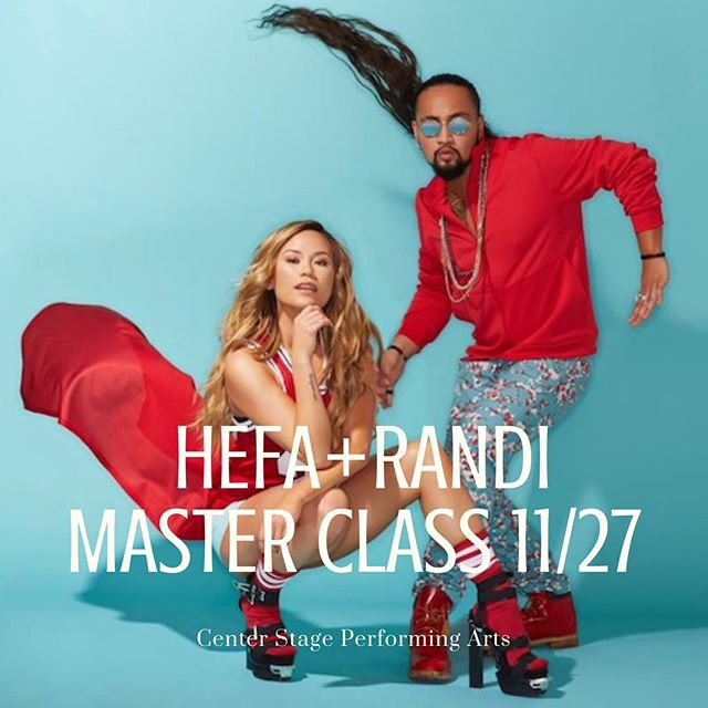 Hip Hop Master Class with ✨HEFA & RANDi ✨Tuesday, November 27 6:30pm-8:00pm $35 online or $40 at the door!