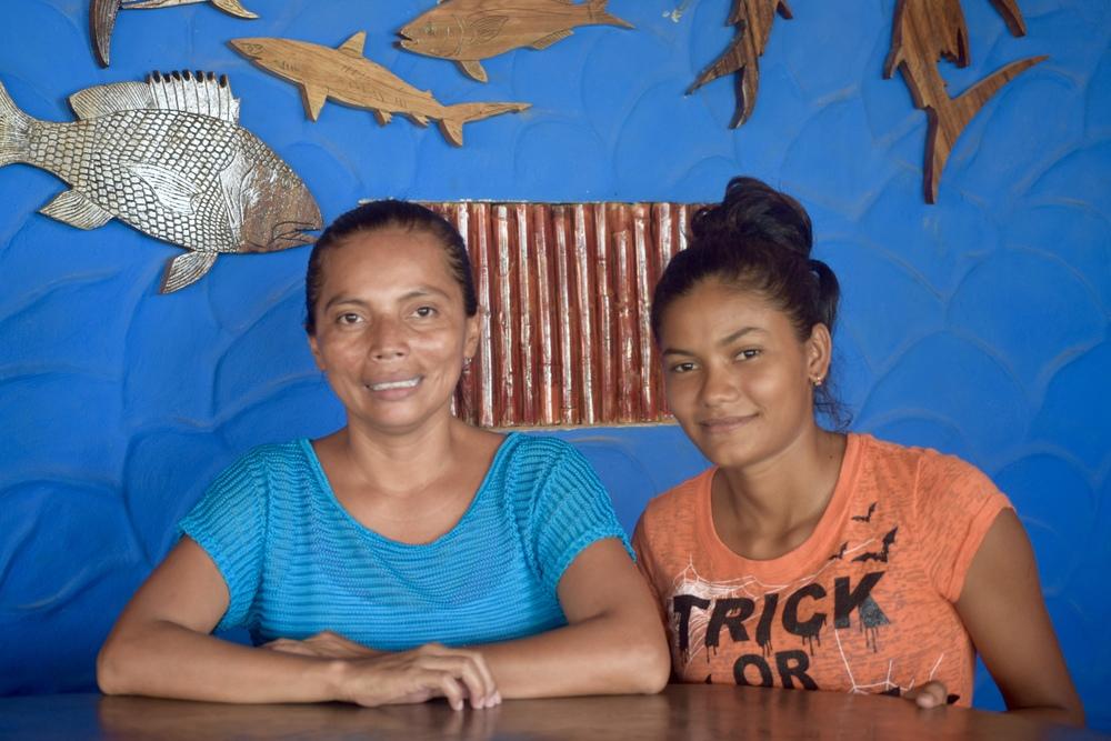 Carla Baldivia, queen of the Puerto Sandino Surf Resort Kitchen