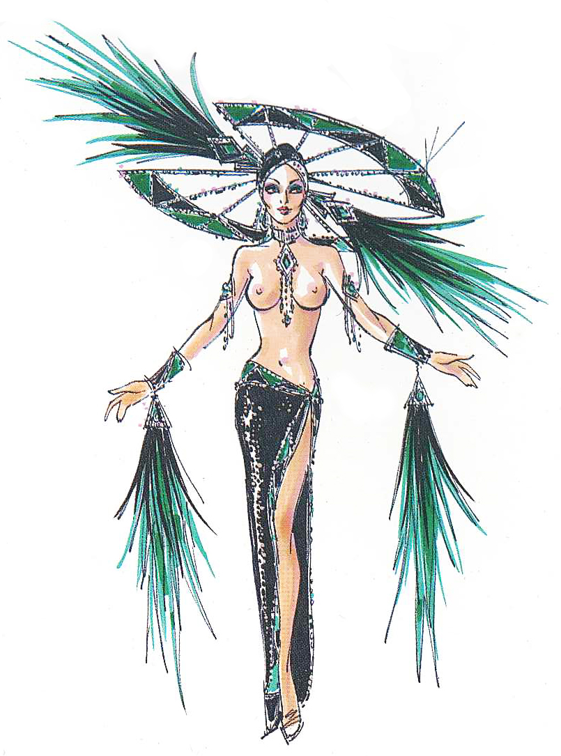 Jubilee Las Vegas Costume Illustration By Bob Mackie