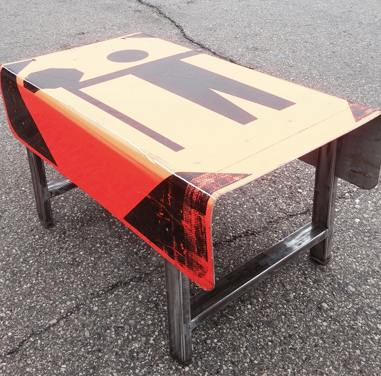 New Designs In The Works The ReCYCLEr - Road sign furniture