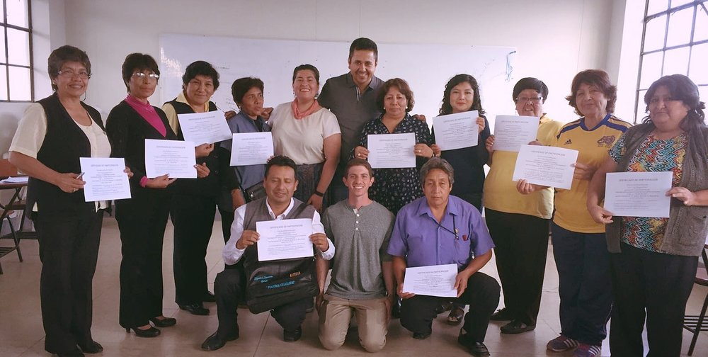 Motivational interviewing training with teacher leaders in El Porvenir, Peru