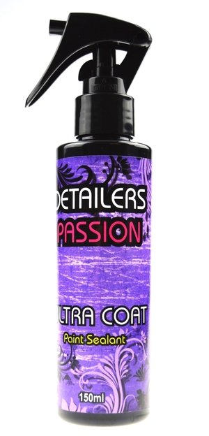 Detailers Passion Ultra Coat ispaint sealant is an easy on easy off sealant for those whowantnothing but the best protection, durability, shine and beading. Detailers Passion Ultra Coatoffers a hydrophobic guard and will help protect your car's paint from bird droppings, acid rain, bugs, road salts and other elements.  Use a applicator pad to spread the ultra coatevenly, using light pressure and overlapping strokes. Once on, leave the Ultra Coatto dry for a minimum of 5 minutesand then buff off the residue using a microfibre towelto a high gloss  £19.99 150ml
