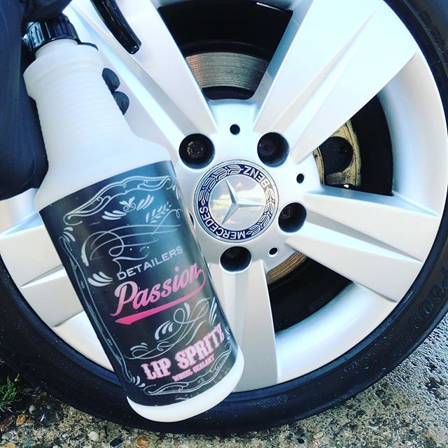 Our Lip Sprtiz wheel sealant is quick and easy to apply comes in 1lt @detailerspassion . . . . . #wheels #rims #cars #car #ride #tires #wheel #detail #cardetailing #wheelsealant #carcareproducts #detailersofinstagram