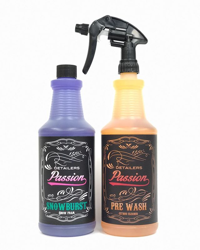 Getting ready for them up-and-coming winter months we have our pre-wash prep contains Our SnowBurst and Citrus prewash in 1lt . #cardetailing #detailing #detailerspassion