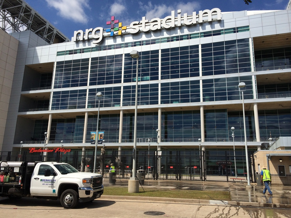 Berkely Services power washing NRG Stadium