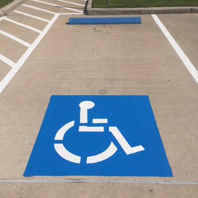 Handicap Parking Marking Houston