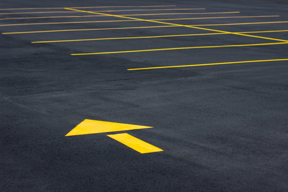 Striped Texas Parking Lot