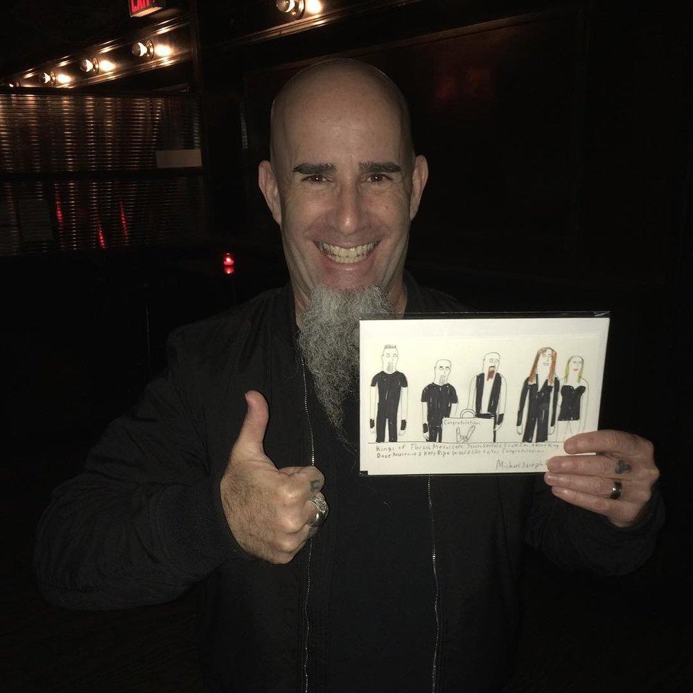 St Vitus got Michel's art to Scott from Anthrax!