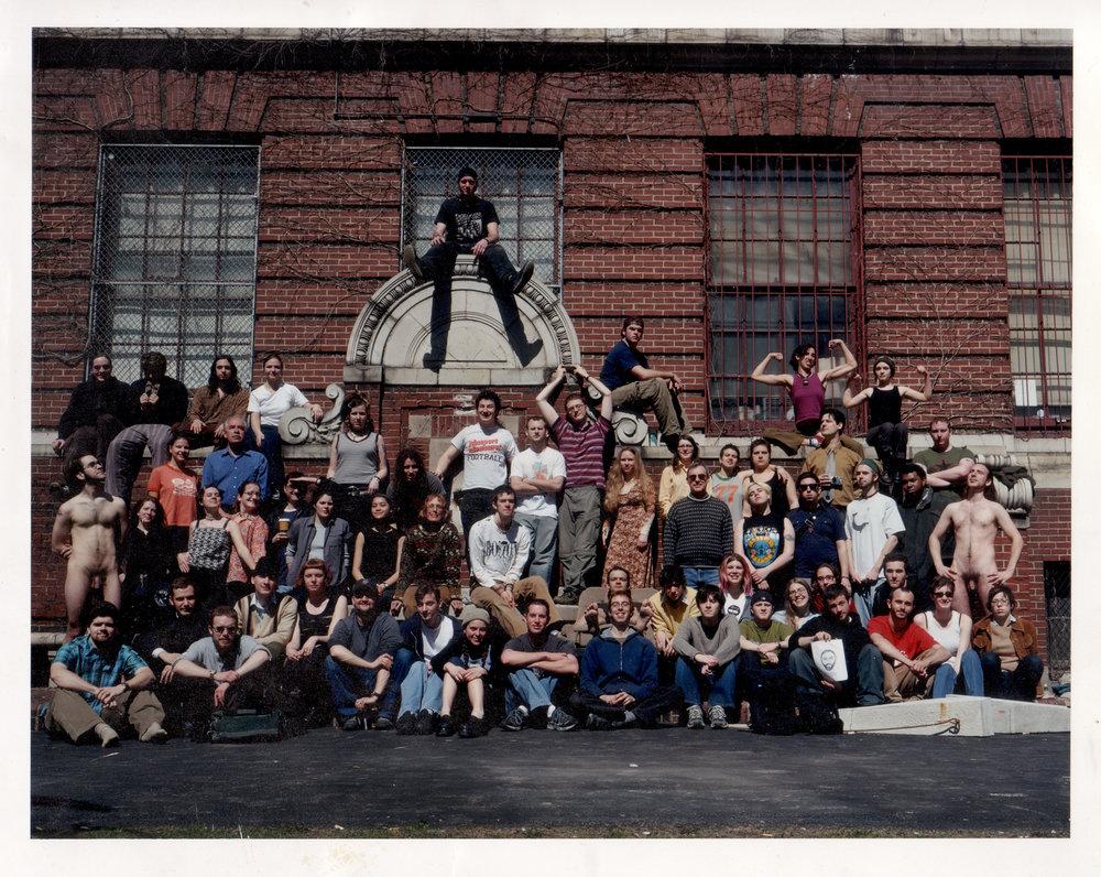 Mass Art S.I.M. class photo, 2000