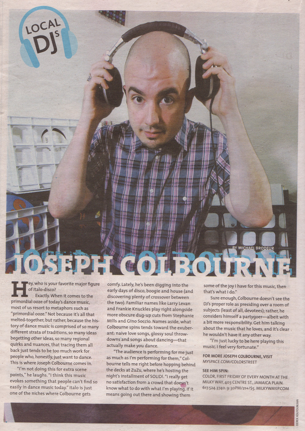 A piece on Joseph from The Weekly Dig