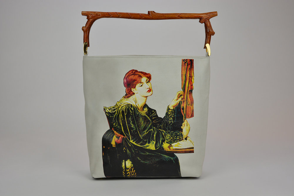 Veronica Bag in Finest Quality Luxury Leather, Printed Tote Bag