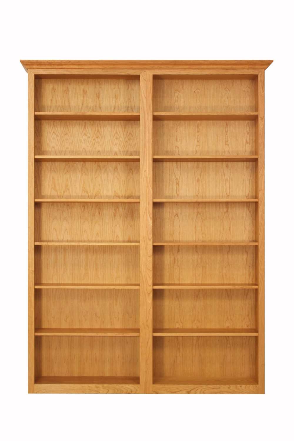 7-Space Bookcase Set in Cherry