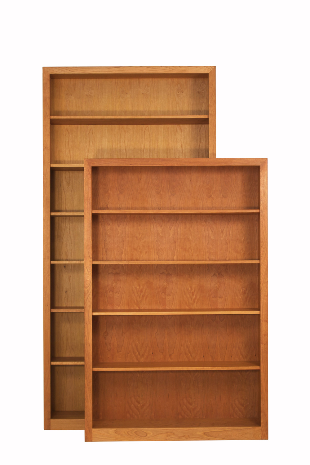 "42"" Wide Bookcases with Fame-Frames in Cherry"