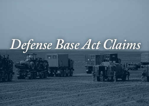 If you or a family member have been injured while working under a U.S. government contract overseas, Capron & Avgerinos can help. We will file and pursue a  Defense Base Act    claim for you. The Defense Base Act, a federal law, provides workers' compensation protection to civilian employees working outside the United States on U.S. military bases or under a contract with the U.S. government for public works or for national defense.