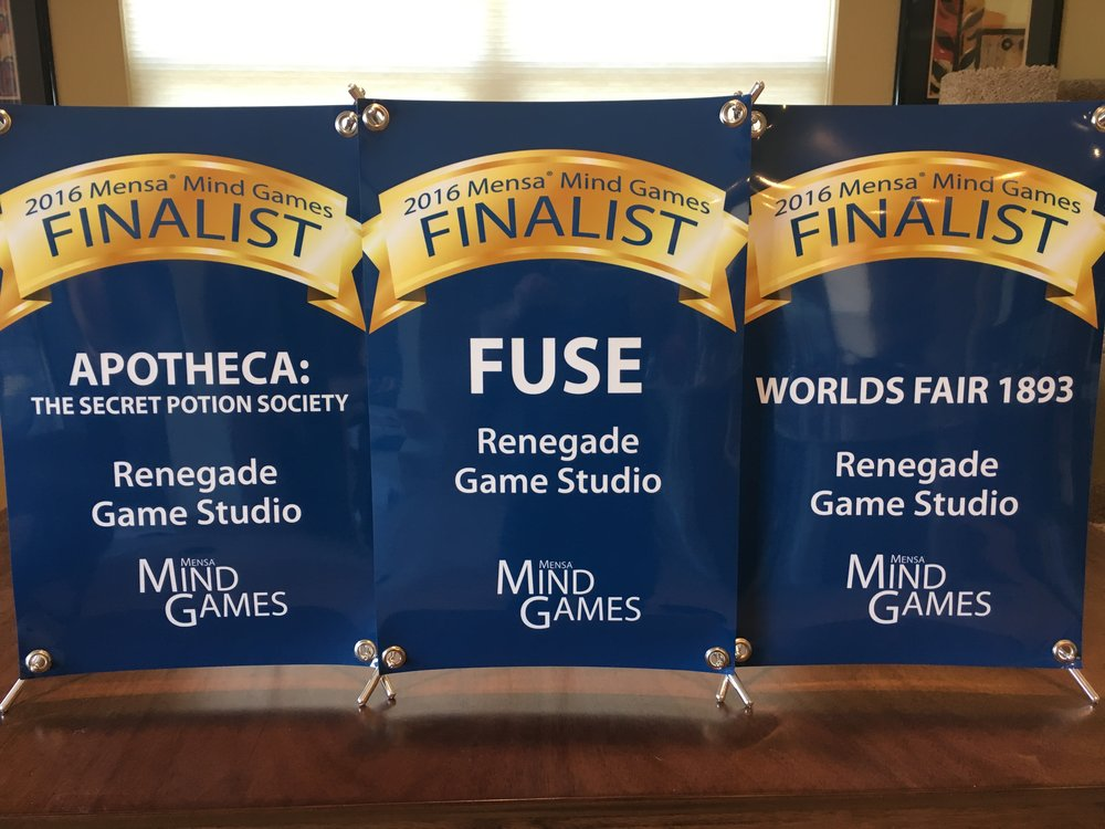 Mensa Finalists were announced and we had 3 games make the top 60!