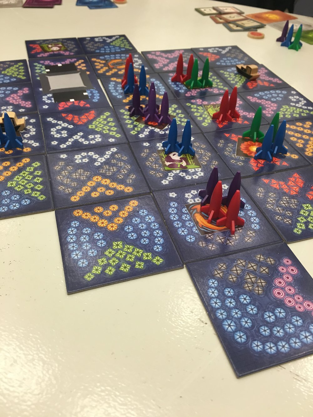 Randy was at Unpub too and testing the expansion for Lanterns.