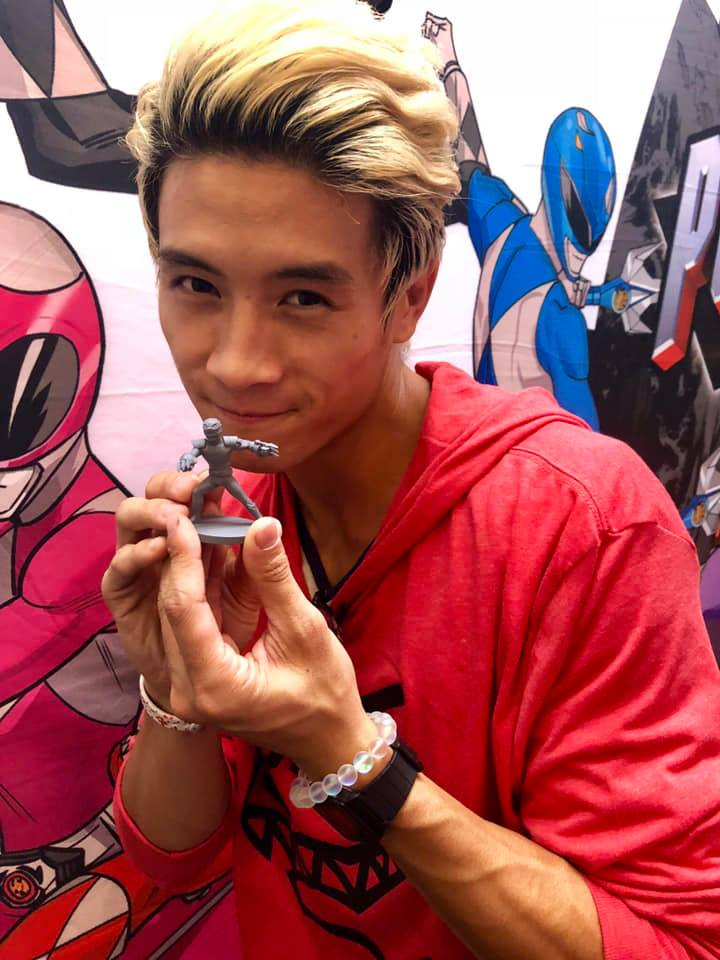 Peter Sudarso and his figure from Shattered Grid!