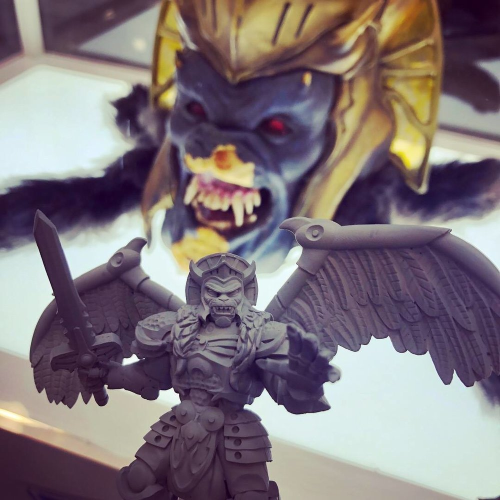 The original Goldar mask and the figure!