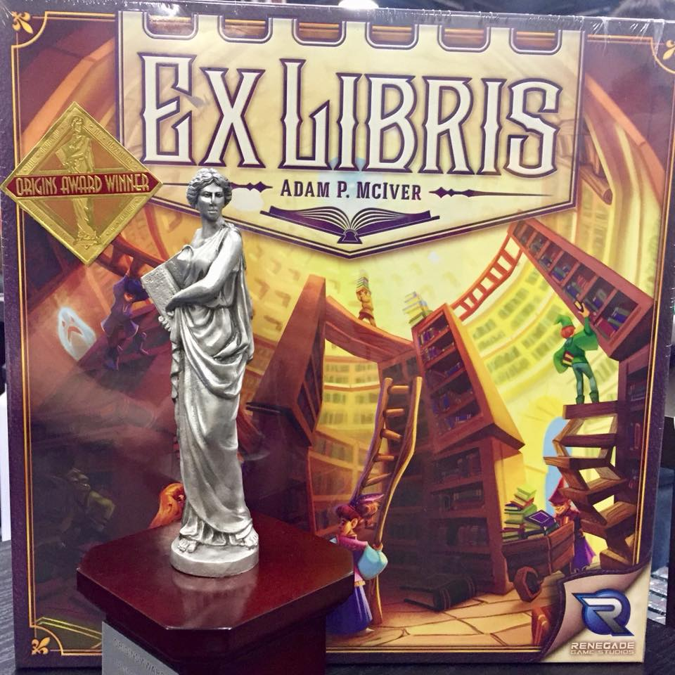 Ex Libris won the Best Card Game - Origins Award!