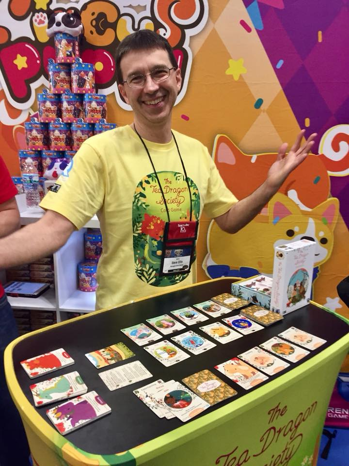 Steve Ellis, co-designer of Tea Dragon Society, overjoyed to give demos!