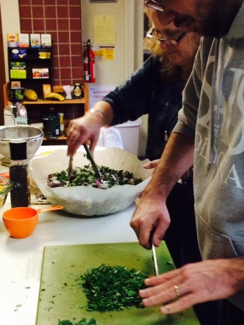 parsley, mint, cilantro, cabbage, pumpkin seeds. YUM.