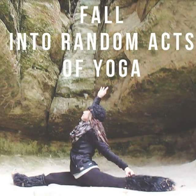 "Crisp fall air. Warm color leaves on the trees and beautiful Earth under your feet. Find yourself ""falling"" into random acts of yoga as we take our yoga practice on a hike. This yoga day trip will bring you to the Starved Rock region where we will combine hiking and random acts of Yoga practices. We will start off hiking, and then as the mood shall  strike, we will begin practicing yoga with the sun and the trees  When: Saturday,  September 15th  Where: mathison state park  Time: 8:15am-12:15p  Investment: $40 when registered by September 12th.. $50 after 9/12 What to bring: hiking shoes, water, sunglasses, bug spray, mini backpack. Wear multiple layers  Snack will be provided   Register Today: 815-953-2416"