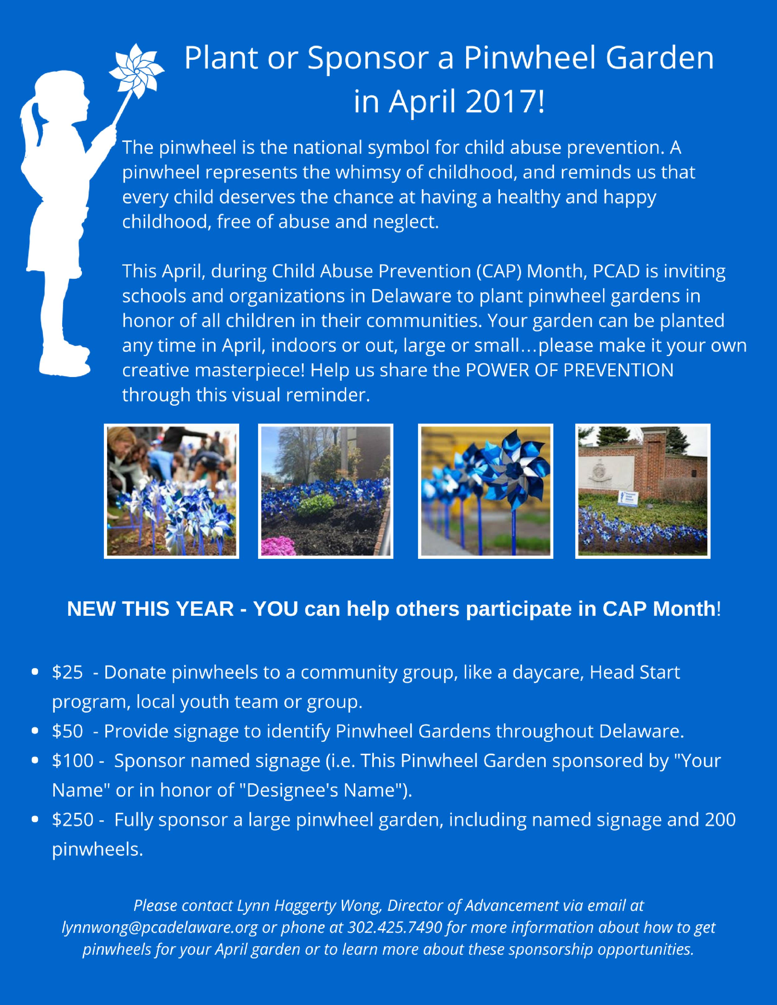 Pinwheels Canva Art Prevent Child Abuse Delaware