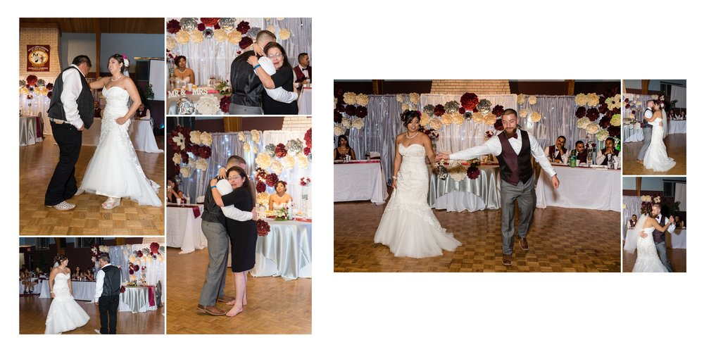 Parent dances and the couple's first dance