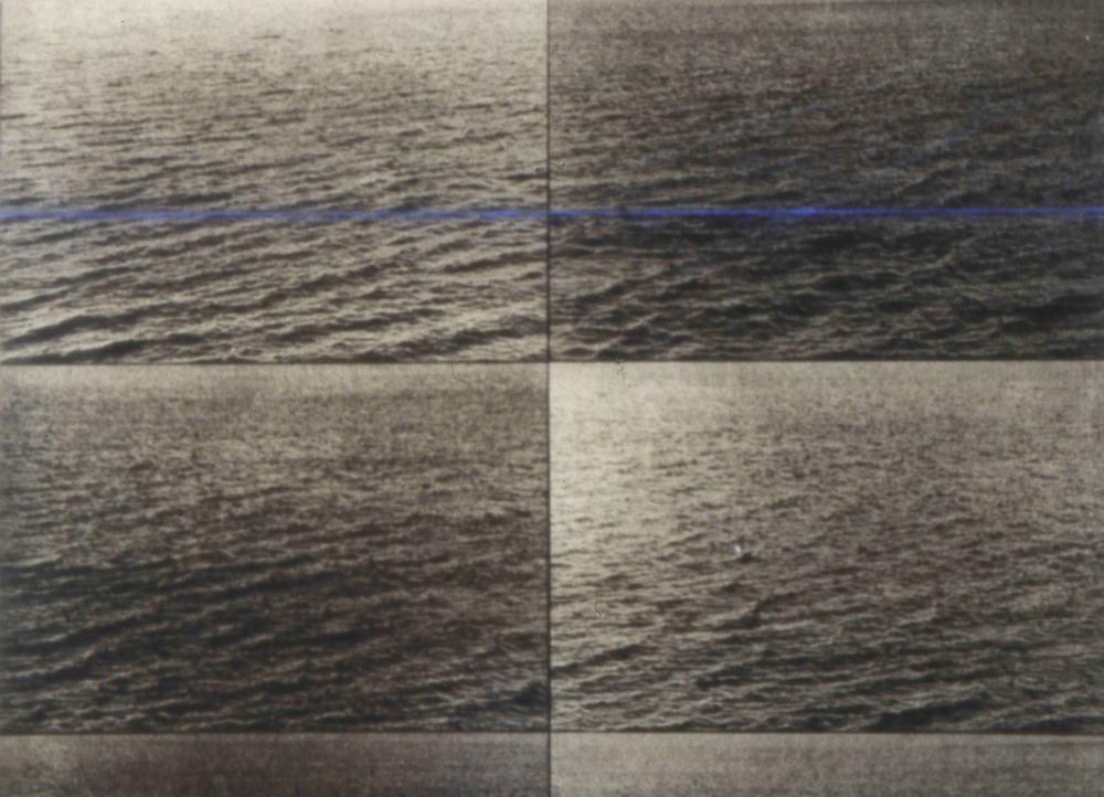 untitled, 1997, Photo Gravure with Chalkline on Plexi, detail 2