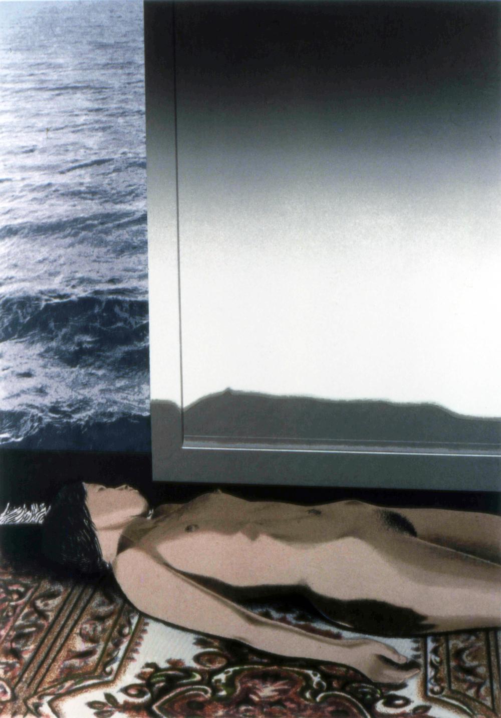 "Roomby the Ocean, 1980, screenprint, 11 x 16"""