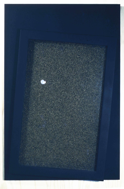 "Space Ship Earth,1971, wood, metal glass,20 x 30"""