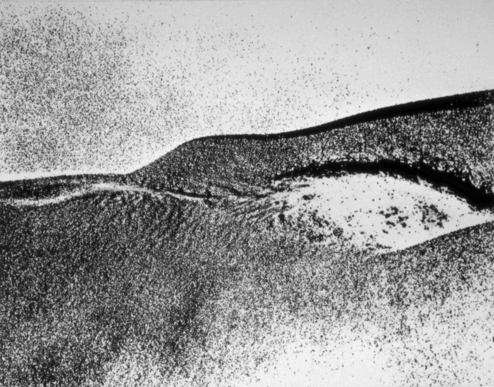 "untitled, 1972,photo film grain Kodalith, 8 x 10"""