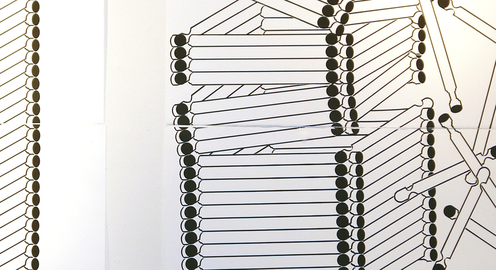 Standing Tower Falling Tower,detail, screenprint, 2015