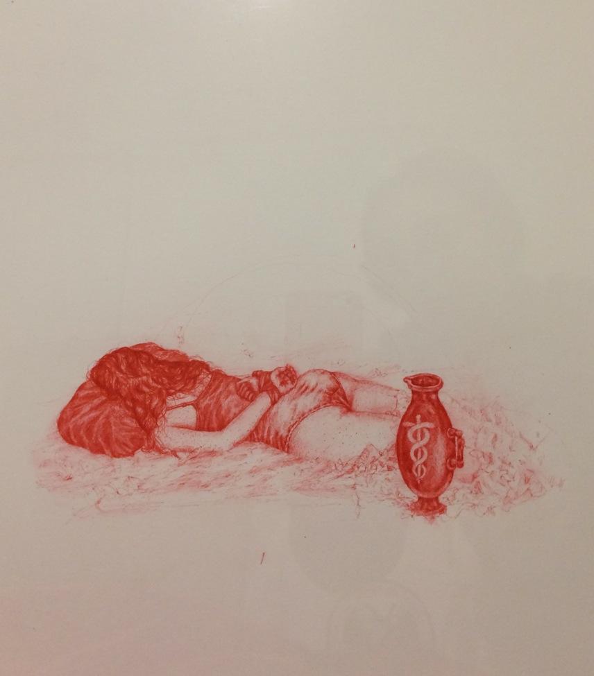 Rebecca Fin Simonetti, Truster, 11 x 15 inches, pen on paper