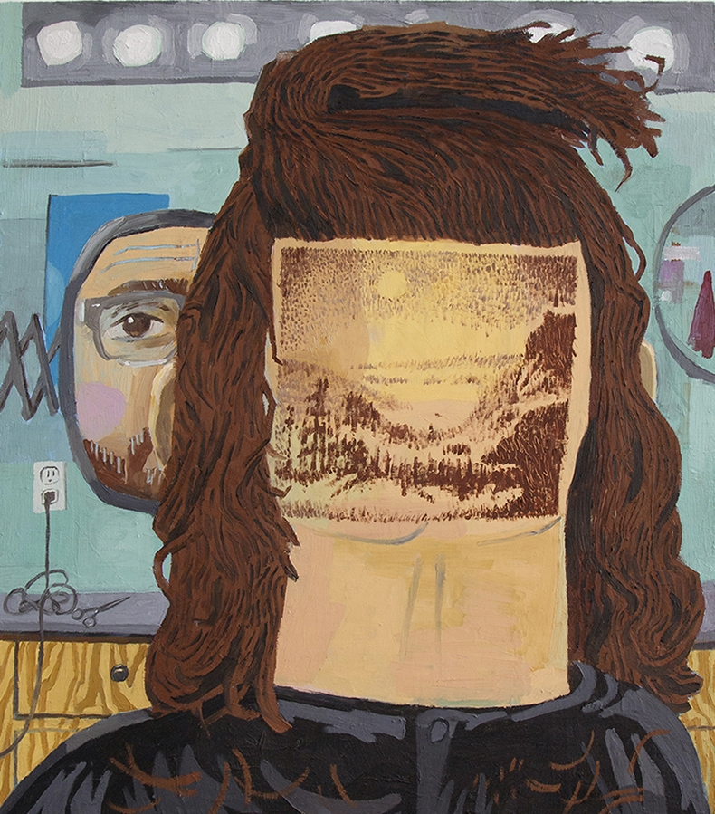 Paul Gagner, Hairscaping, 2015, oil on canvas, 26x30 inches