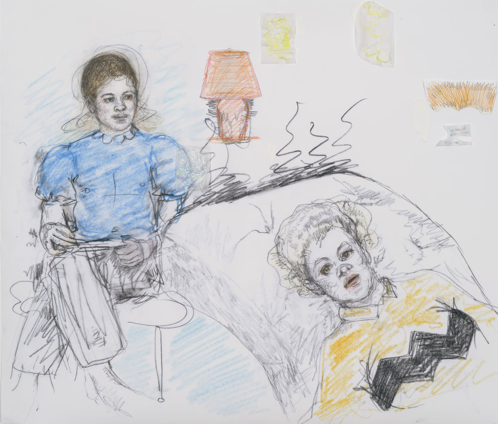 Eliza Griffiths, Drawing Lucy and Charlie go deep, 2016.