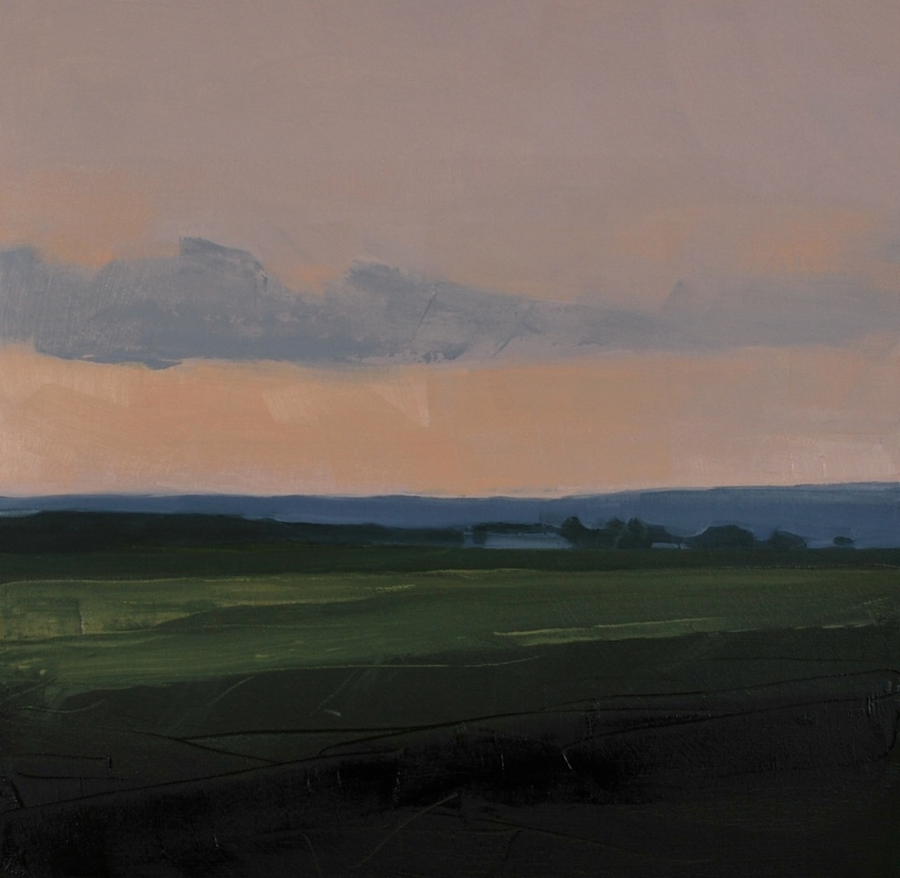 Sara MacCulloch, Kingsport After Sunset, 2015, oil on canvas, 20 x 20 inches.