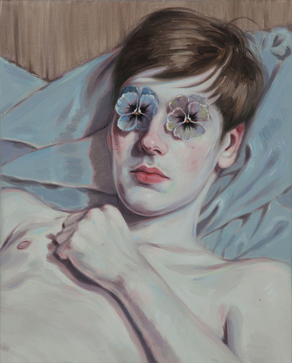 Kris Knight, Pansy, 2015, oil on canvas, 20 x 16 inches .
