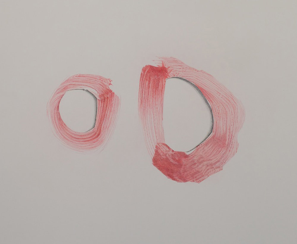 Claire Greenshaw, oo, 2014, coloured pencil on paper, 24 x 30 in.