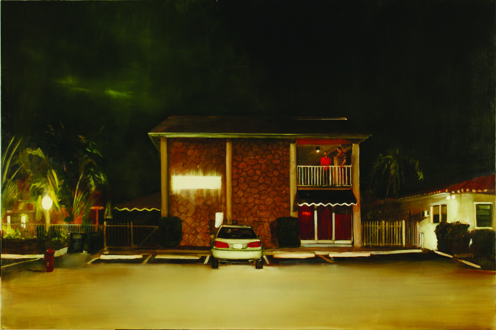 Michael Harrington, A1A NOIR, 2012, oil on canvas, 48 x 72 inches.
